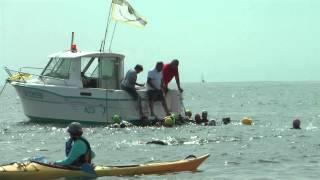 preview picture of video 'Raid de L'île Dûmet à Piriac à la Nage 2014. Par Cormaris Triathlon'