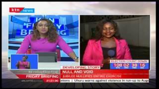 Women Rep aspirant-Wangui Girichi reacts to the shambolic Jubilee nominations in Kirinyaga