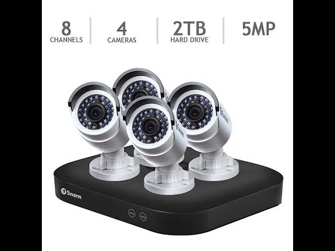 Swann 2TB 8 Channel 4 camera 5MP DIY Surveillence System Review Unboxing & Setup