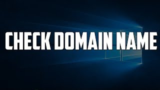 How do You find Your Computer DOMAIN name [DNS - Domain Name System]