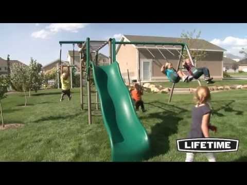 Lifetime Monkey Bar Adventure Swing Set Earthtone