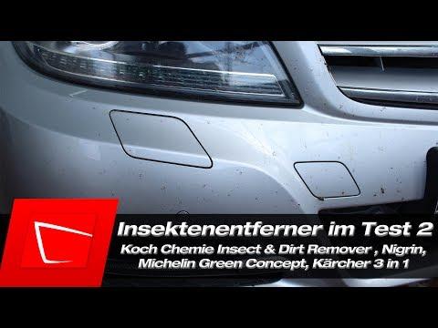 Insektenentferner Test Koch Chemie Insect&Dirt Remover, Michelin Green Concept, Nigrin, Kärcher