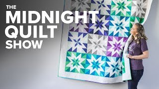2-at-a-Time HALF SQUARE TRIANGLES Quilt | S6E1 Midnight Quilt Show With Angela Walters