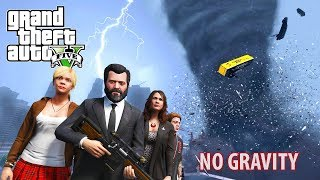 HUGE TORNADO STRIKES LOS SANTOS + NO GRAVITY MOD GTA 5 END OF LOS SANTOS MOD