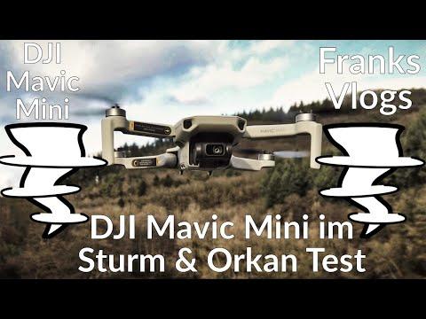 DJI Mavic Mini Flug im Orkan Sabine & Sturm Test Aufnahmen Strong Wind & Storm Footage Mavic Mini