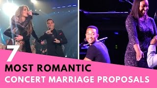 7 Most Romantic Celebrity Concert Marriage Proposals! | Hollywire