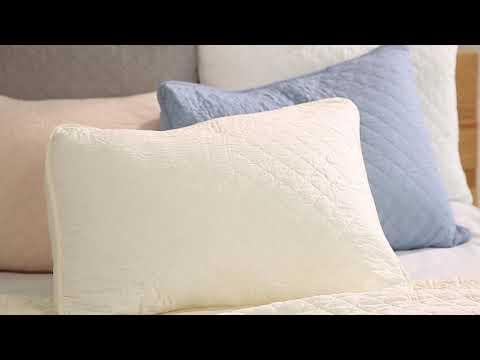 Ava Diamond Oversized Cotton Quilt 3 Piece Set