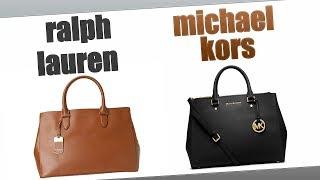 219be98628 Comparison  Michael Kors Sutton vs. Ralph Lauren Newbury Satchel