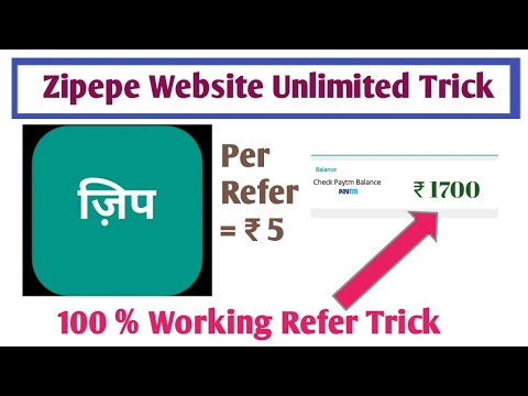 Zipepe App Otp Bypass Refer Trick!! Per Refer = ₹ 5!! Unlimited