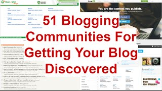 51 Blogging Communities And Directories For Promoting A Blog
