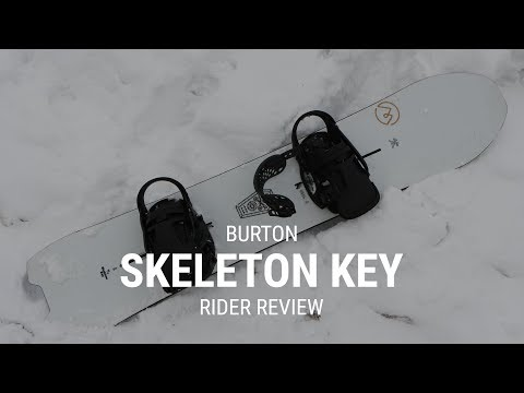 Burton Skeleton Key 2019 Snowboard Rider Review – Tactics.com