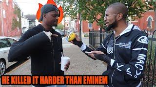 HE KILLED IT! I Got 100 Random People To Freestyle On Eminem Beats