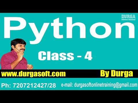 Learn Python Programming Tutorial Online Training by Durga Sir On 30-01-2018