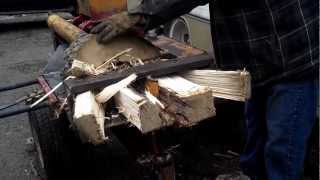 Dad's Homemade DIY Log / Wood Splitter