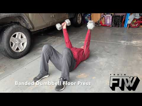Banded Dumbbell Floor Press