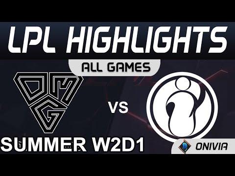 【LPL】OMG vs IG 大師兄SHY未歸位 吞敗仗 阿卡莉版本OP難以處理 2021 LPL夏季賽精華 Highlights