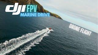 DJI FPV Marine Drive. Isle of Man - Drone Flight.