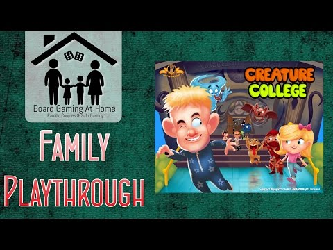 BoardGamingAtHome Family Playthrough of Creature College
