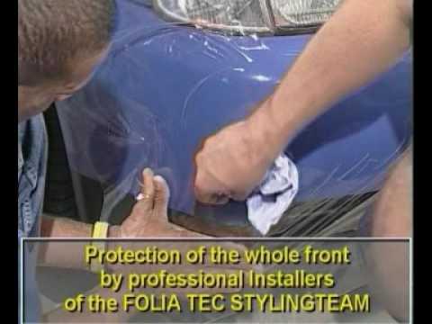 Pellicola protettiva trasparente per la carrozzeria - installazione
