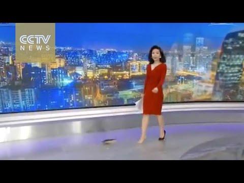 CCTVNEWS anchor's spontaneity wins praises