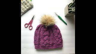 Part 1 Braided Cable Beanie Crochet Video from the Written Instructions by Crochet It Creations