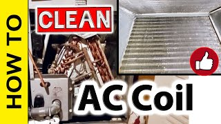 How to Clean Inside of AC Evaporator Coil