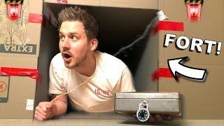 BOX FORT ESCAPE ROOM MAZE!