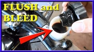how to flush, fill and bleed motorcycle disc brake system