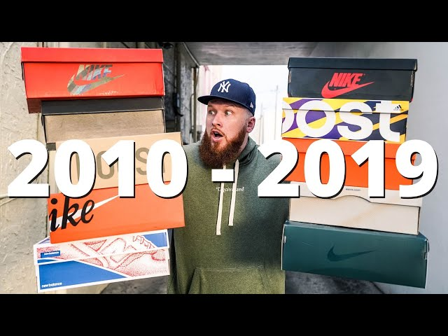 TOP 10 SNEAKERS OF THE DECADE!!! (2010 - 2019)