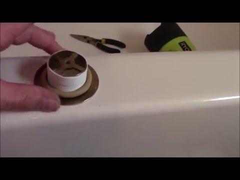 How To Repair Leaking Bathtub Drain Diy Fix Leaking Bathtub Drain How To Clear Clogged Tub Drain