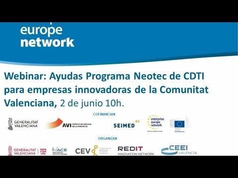 Webinar: Ayudas Neotec de CDTI para empresas Innovadoras[;;;][;;;]