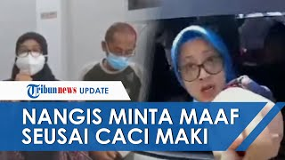 Tahan Tangis, Emak-emak yang Maki Petugas dan Mengatai Binatang Datang ke Polres dan Meminta Maaf