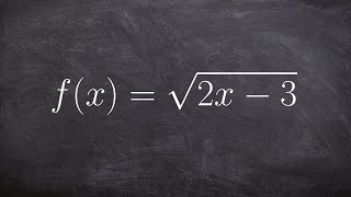 How to find the domain of a radical function