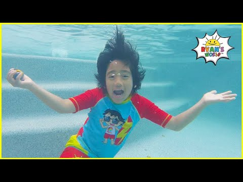 Ryan's Sink or Float Science Experiments Easy DIY for kids!!