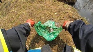 Нашел зеленый пакет в речке! А Там? на Поисковый магнит!