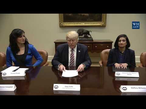 President Trump Participates in a Roundtable with Women Small Business Owners