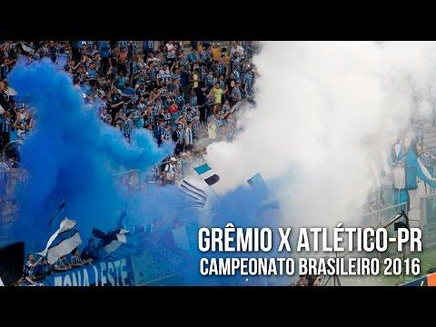 """""""Grêmio 1 x 0 Atlético-PR - Brasileirão 2016 - Recebimento"""" Barra: Geral do Grêmio • Club: Grêmio • País: Brasil"""