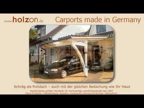 Carport selber bauen Modelle - z.B. Doppelcarport modern aus Holz aufbauen oder bauen lassen