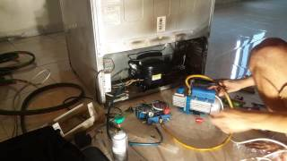 REPLACING COMPRESSOR AND FILTER DRIER ON PANASONIC REFRIGERATOR