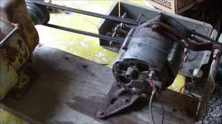 Alternator Demo, self energize, generator, arc welder