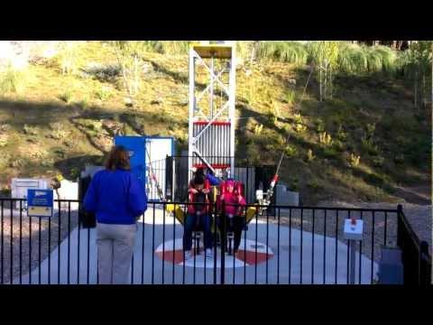 Slingshot ride at six flags magic mountain