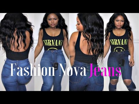 FASHION  NOVA BOOTY JEANS | REVIEW & TRY ON|