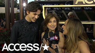 Timothée Chalamet Gets Flustered When Asked About Lily-Rose Depp At The Globes!   Access