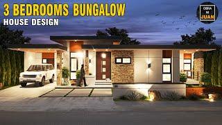 3 BEDROOMS MODERN BUNGALOW HOUSE DESIGN