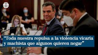 """Pedro Sánchez: """"Toda nuestra repulsa a la violencia vicaria y machista que algunos quieren negar"""""""