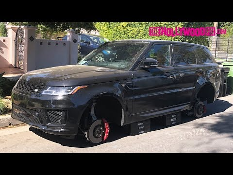 Say What?! $100,000 Range Rover Sport Has Its Rims Boosted At Night In West Hollywood 10.31.19