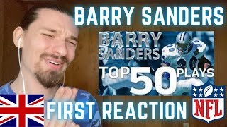 FIRST TIME REACTING to BARRY SANDERS NFL Highlights