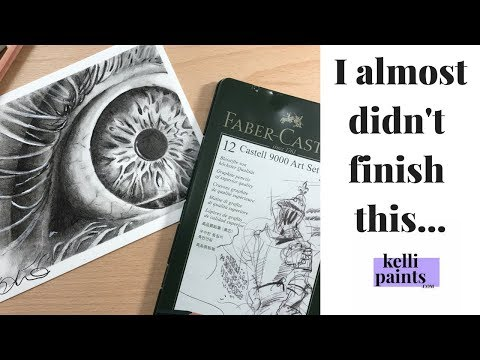 Faber Castell 9000 series REVIEW & DEMO/ Why it's important to finish your art pieces