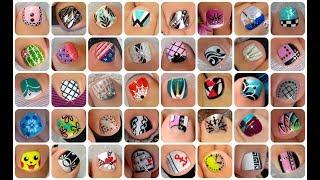 ♥ 45 Toe Nail Art Design Tutorials   Nail Art Compilation ♥