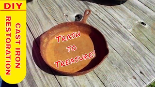 Restore, refurbish, remove rust, salvage old cast iron rusted cast iron, Trash to Treasure